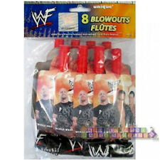 WRESTLING WWF BLOWOUTS (8) ~ Vintage Birthday Party Supplies Favors 2002 Rock