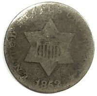 1852 United States 3-Cent Silver Piece - AG