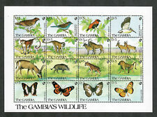 Gambia Sc#1064 M/NH/VF, Souv. Sheet Wildlife, Cv. $25