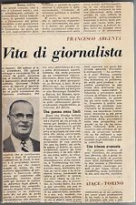 Argenta, Vita di giornalista, Caballo, Aiace editore, giornalismo, biografia