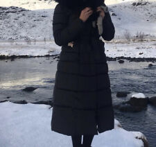 womans long winter coat Size 10 Collar Not Included