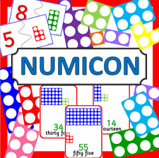 NUMICON style Maths teaching resources on CD- EYFS, KS1, Numeracy Number shapes