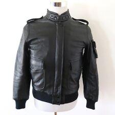 Vintage Original Cafe Racer Leather Jacket Harley Davidson Hein Gericke Size 36
