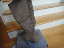 JENNIFER LOPEZ BOOTS FOR WOMAN: SIZE 8: AUDREY -TAUPE: PULL-ON-FAUX LEATHER-SOFT