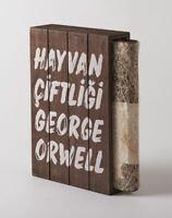 ANIMAL FARM Turkish Novel GEORGE ORWELL Collector's Edition Wooden Box 1ST PRINT