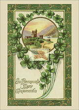 REPRINT PICTURE old postcard ST PATRICK'S DAY GREETING 5x7