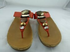 FitFlop Sandals, Size 9, Red/orange leather with bling!!! New