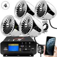 1000W Motorcycle Bluetooth 4 Speakers Stereo Audio System ATV UTV Can Am Polaris