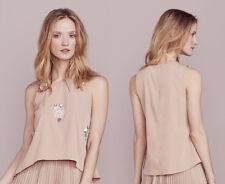LC Lauren Conrad S Dress Up Shop Collection Floral Paillette Top blouse