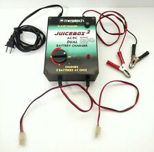Vintage MegaTech JUICEBOX 2 R/C AC/DC Dual BATTERY CHARGER 10 Amp TESTED