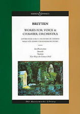 WORKS FOR VOICE & CHAMBER    ORCHESTRA --- STUDY SCORE    MASTERWORKS LIBRARY (B