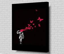 """*BANKSY SUICIDE* POP ART Box Canvas 20""""x30"""""""