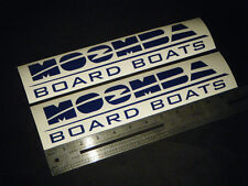 "Moomba Board Boats Blue Decal 12"" Stickers (Pair)"