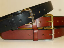 "AMISH STYLE ENGLISH BRIDLE LEATHER GUN BELT! 1-1/2"" USA!! MADE IN OHIO! 12/13oz"