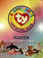 PRICE REDUCED! TY Beanie Babies Official Club Collectors Cards & Binder