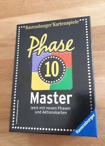 Phase 10 Master - Kartenspiel von Ravensburger - Neuwertig!