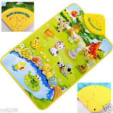 Farm Animal Musical Music Touch Play Singing Gym Carpet Mat Toy Gift A