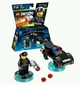 Lot of 6 LEGO DIMENSIONS The Lego Movie Fun Pack 71213 Bad Cop Police Car Bulk