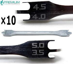 10 Pcs Dental Bracket Height Gauge 022 Orthodontics Instruments