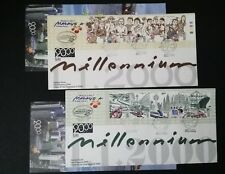 MALAYSIA FDC 2000 - CELEBRATE THE NEW MILLENNIUM(COVER #1 & #2)