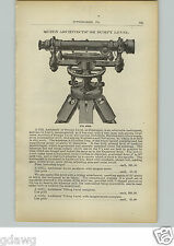 1910 PAPER AD Queen & Co Brand Architech's Dumpy Level Bailey Plane Tool