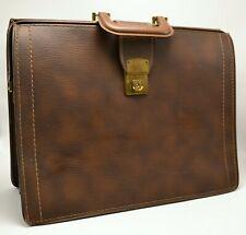 Vintage Brown Sturdex Doctor Business Case Bag by Leathercraft EUC