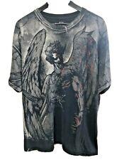 MMA ELITE Dark Angel Bloody Graphic Short Sleeve Shirt XXL Black Gray