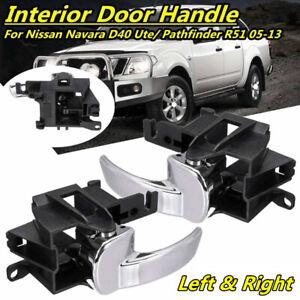 Pair Inner Inside Door Handle Front / Rear For Nissan Navara D40 Pathfinder R51