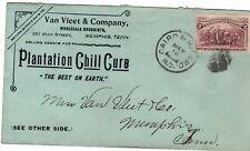 Ad Cvr.Both Sides,Memphis,Tn.Plantation Chill Cure 1894