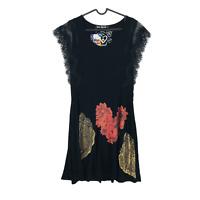 Desigual VEST NATALIA REP Black Dress Size XS S M L