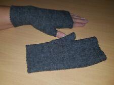 Walk-Armstulpen -Pulswärmer mit Daumen grau  by Zonel Mode