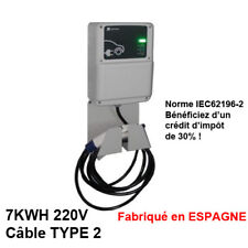 Wallbox Borne de Recharge Cable 32A 7KWH MONOPHASE TYPE 2 IEC62196-2