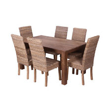 Pancor 180cm Reclaimed Wood Table + 6 Chairs