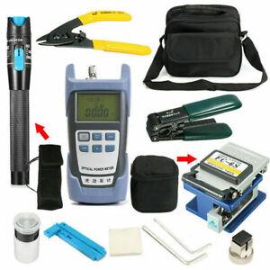12-in-1 Fiber Optic FTTH Tool Kit Set Power Meter FC-6S Cleave Optical V0K Sale