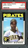 Barry Bonds Rookie Card 1986 Topps Traded #11T PSA 9