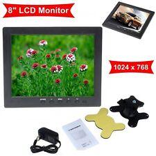 "Portable 8"" TFT LCD Colour Video Monitor Screen VGA BNC Input DC12V For PC CCTV"