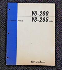 GENUINE 1964 CUMMINS V6 200 V8 265 DIESEL ENGINE OPERATION & MAINTENANCE MANUAL
