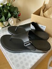 FIT FLOP GENUINE BRAND NEW IN BOX FIT FLOP VERA BLACK TOE POST Sandals UK - 5