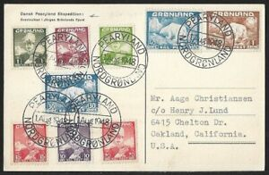 GREENLAND PEARYLAND EXPEDITION ON PPC COVER 1948