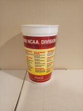 2008 NCAA Basketball Tournament OFFICIAL SOUVENIER COCA COLA COKE CUP Divisional