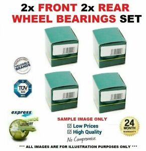 2x Front 2x Rear WHEEL BEARINGS for VOLVO S80 2.0 2008-2012