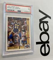 Michael Jordan Magic Johnson PSA 7 Collector Card 1991 Upper Deck #34 INVEST NR