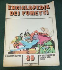 ENCICLOPEDIA DEI FUMETTI #39 ITALIAN COMIC CARTOON MAGAZINE FINE 1970