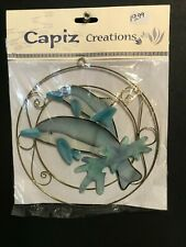 New Philippine Handmade Capiz Translucent Shell Dolphin Suncatcher Window Art
