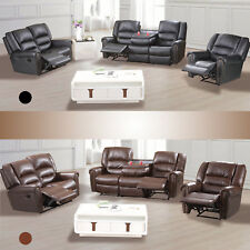 3 2 1 Seater Sofa Set Loveseat Couch Recliner Leather Living Room Furniture