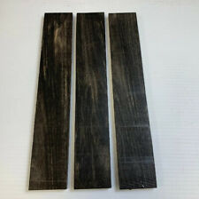 (3)  3 Pack, GABOON EBONY Thin Stock Boards Lumber Crafts Wood 1/4