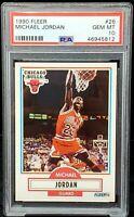 1990 Fleer #26 Chicago Bulls Star MICHAEL JORDAN Card PSA 10 GEM MINT Low Pop !!