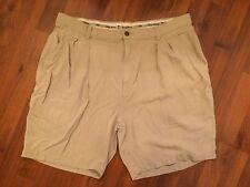 Men's Size 38 Tommy Bahama Silk Khaki Shorts Pleated Front Very Good