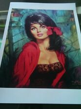 Lou Shabner Melanie beautiful print retro kitsch vintage heavy canvas paper