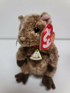 """Ty Beanie Babies-Louis The Mouse-MWMT-Garfield The Movie With Golden Name Tag-4"""""""